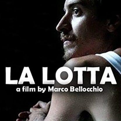 LA LOTTA- LOCANDINA FILM-CORTOMETRAGGIO-KAVAK FILM-MARCO BELLOCCHIO-SUONO IN PRESA DIRETTA-RICKY MILANO-OMNIBUSTUDIO